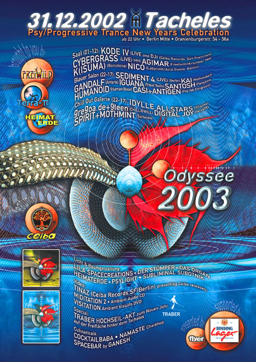 ODYSSEE 2003 (Psy/Progressive Trance NewYearsCelebration) 31 Dec '02, 23:30