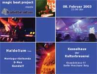 Magic Beat Project meets Tshitraka 8 Feb '03, 22:00
