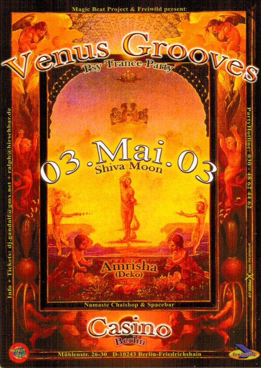 Venus Grooves 3 May '03, 22:30