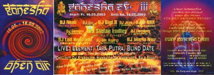 Ganesha Open Air III 16 May '03, 18:30