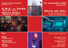 GMS meets Magic Beat Project 29 Nov '03, 22:00