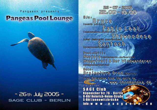 Pangeas Pool Lounge 26 Jul '05, 22:00