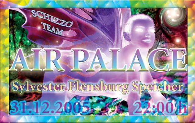 Party flyer: Air Pallace 31 Dec '05, 22:00