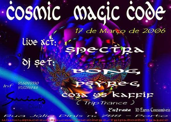 COSMIC MAGIC CODE (SWING CLUB) 17março 17 Mar '06, 22:00