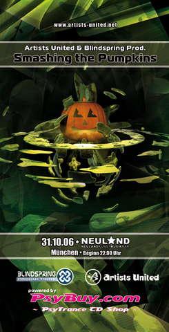 Artists United & Blindspring Prod. are Smashing the Pumpkins 31 Oct '06, 22:00