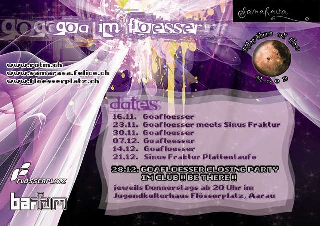 Goaflösser Closing Party (Im Club!) 28 Dec '06, 20:00