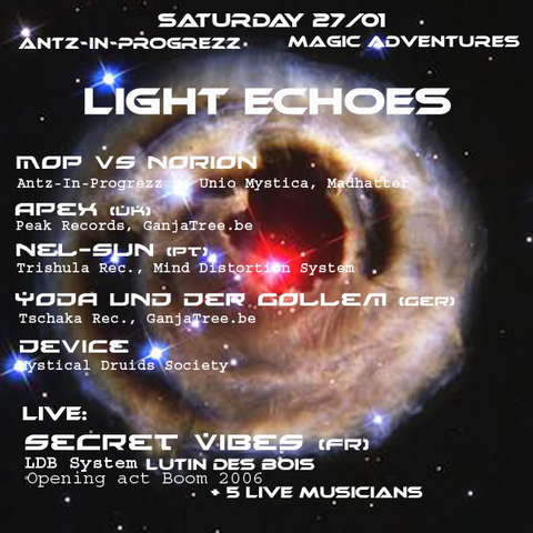 Party flyer: Light Echoes 27 Jan '07, 21:00