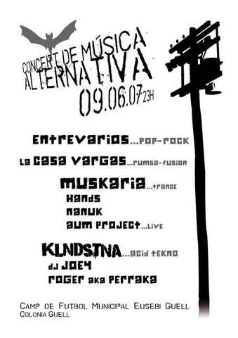 www.muskaria.com:: Alternative Music Concert - OPEN AIR 9 Jun '07, 23:00