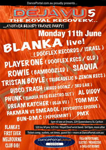 The Royal Recovery feat Israel's Blanka ~ Mon 11th June 11 Jun '07, 17:30