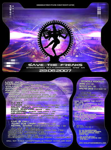 Party flyer: SAVE THE FREAKS! II Edition 23 Jun '07, 20:00