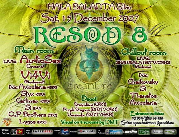 Party flyer: Reson8 15 Dec '07, 21:00