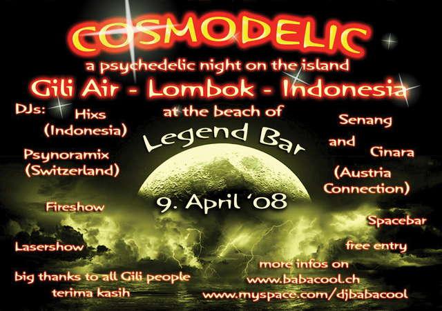 "9. april '08: ""Cosmodelic"" in Indonesia 20080409cosmodelic"