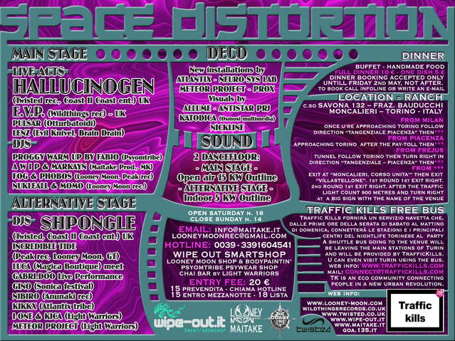 HALLUCINOGEN LIVE - SHPONGLE DJ § Space Distortion § 3 May '08, 18:00