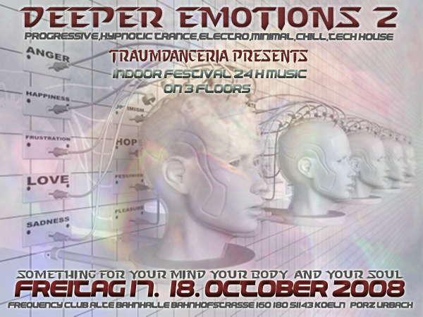 deePer emOtioNs2°°°indoor festival°°°TIMETABLE ONLINE 17 Oct '08, 22:00