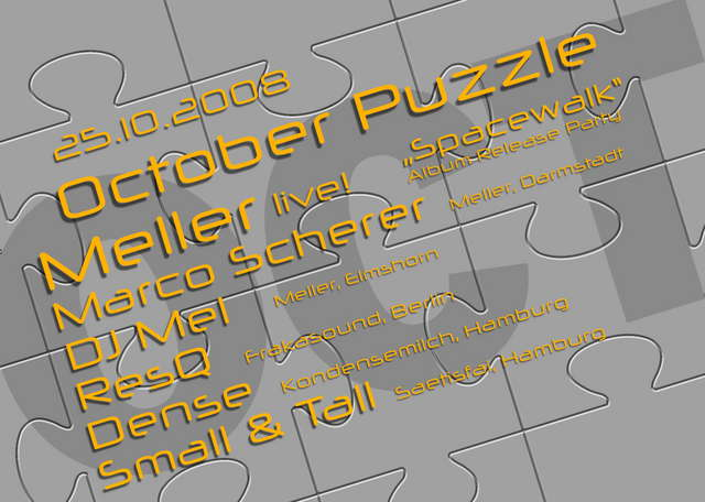 October Puzzle - Meller Album Release! 25 Oct '08, 22:00