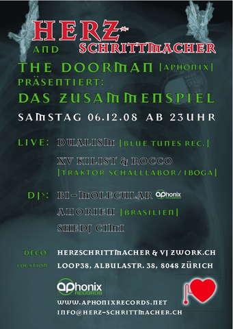 HERZSCHRITTMACHER & TheDoorman (Aphonix) - Das Zusammenspiel 6 Dec '08, 23:00