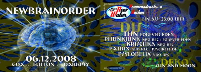 New Brain Order 6 Dec '08, 23:00