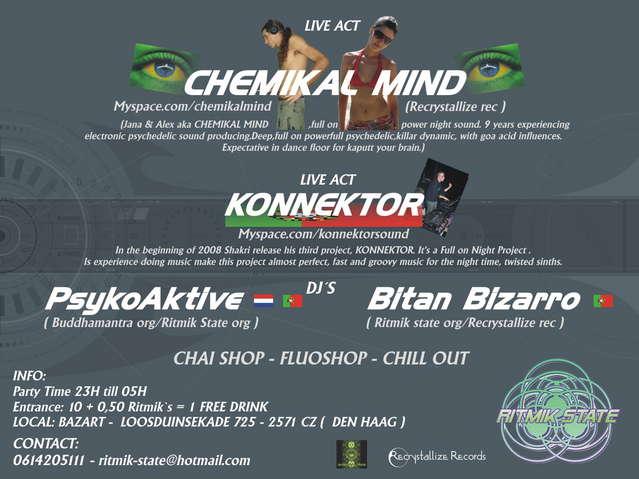 --- Killer Time --- Live: Konnektor - Chemikal Mind 7 Feb '09, 23:00