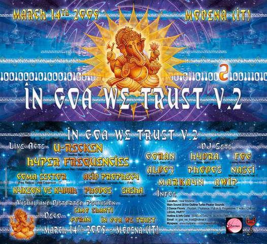 IN GOA WE TRUST V.2 U-recken & Hyper Frequencies !UPDATE! 14 Mar '09, 22:00