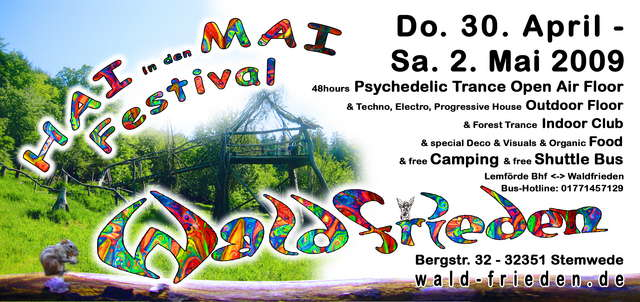 Waldfrieden - HAI in den MAI - Open Air & Indoor Festival 30 Apr '09, 21:00