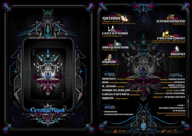 CRYSTAL MATRIX & MOONBLAST - CRYSTAL BLAST 9 May '09, 23:00