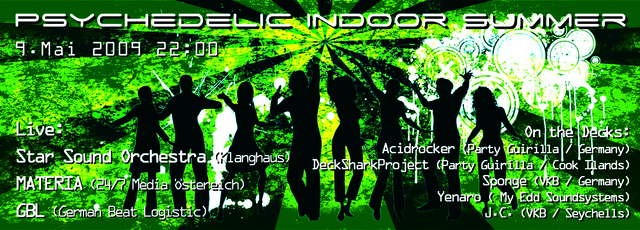 Party flyer: Psychedelic Indoor Summer 9 May '09, 22:00