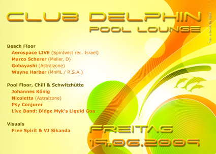 Club Delphin Pool Lounge 19 Jun '09, 22:00