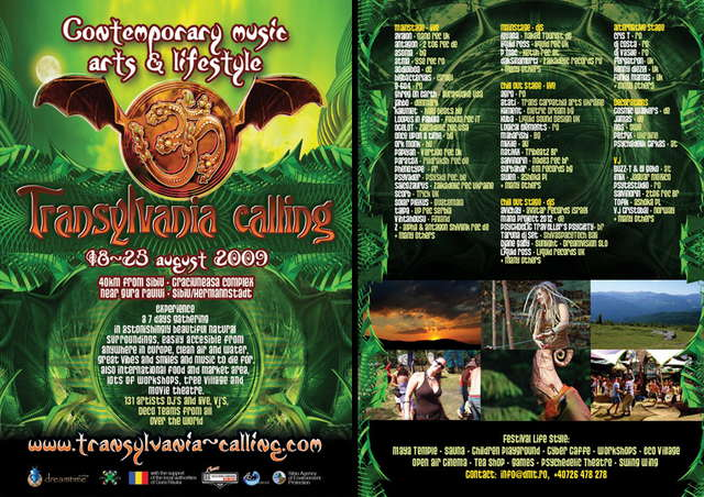 Party flyer: Transylvania Calling 2009 - Welcome to Wonderland 18 Aug '09, 11:00