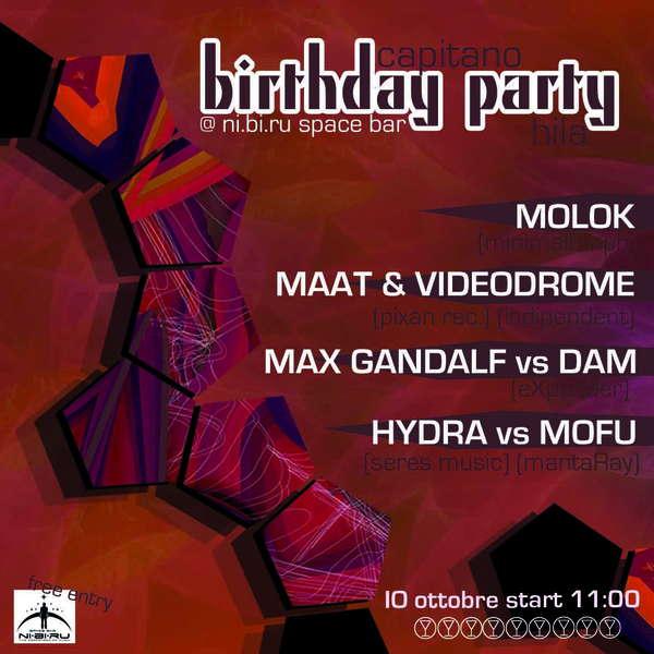 BIRTHDAY PARTY ::::::::: Capitano&Hila @ NI.BI.RU spacebar 10 Oct '09, 23:00