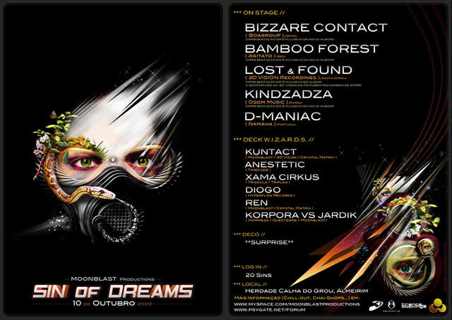 "\""SIN OF DREAMS\"" by Moonblast OPEN AIR 10 Oct '09, 23:00"