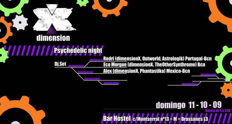 DIMENSION X 11 Oct '09, 21:00