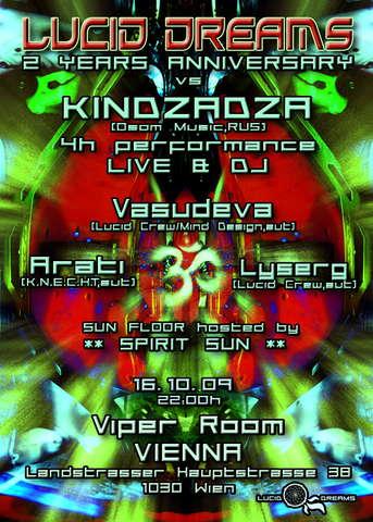 *LUCID DREAMS* 2 YEARS ANNIVERSARY vs *KINDZADZA* LIVE!!! 16 Oct '09, 21:00