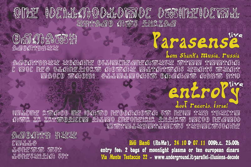 SHANTI! Parallel Illusions, Parasense Live 24 Oct '09, 23:30