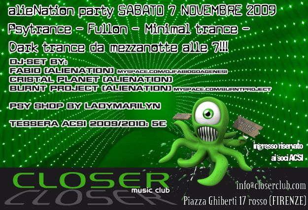 .:alieNation:. open up your 3rd eye 7 Nov '09, 23:30