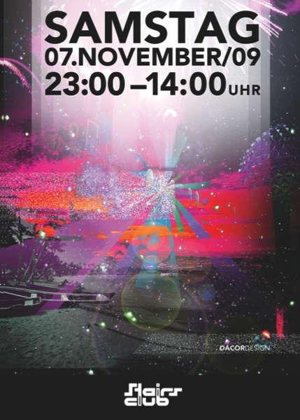 maRe @ Stairs Club Zürich // SENSIFEEL - ELECTROSTATIC 7 Nov '09, 23:00