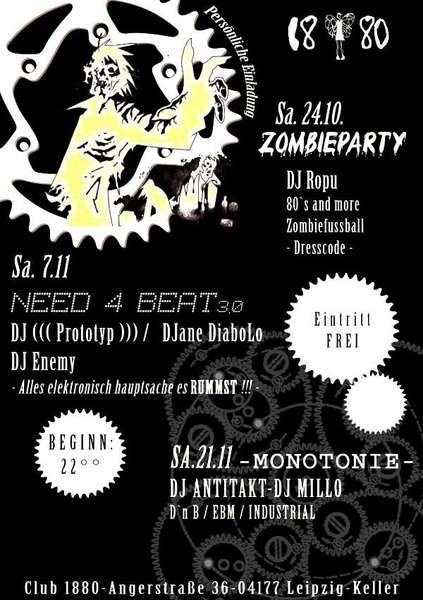 """need4beat"" vol.3 7 Nov '09, 22:00"