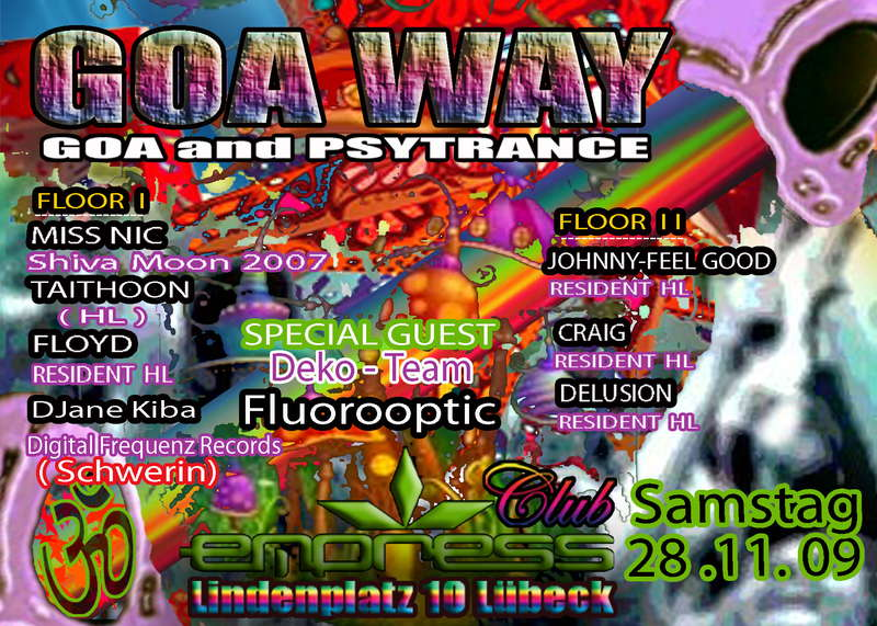 Party flyer: GOA WAY 28 Nov '09, 22:00