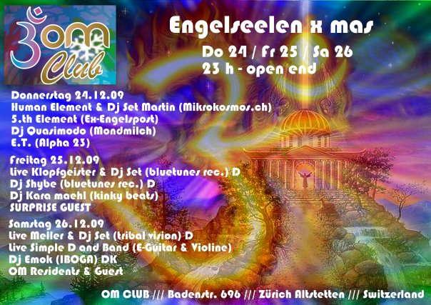 OM - CLUB X -MAS '' Engelseelentreffen '' 26 Dec '09, 23:00