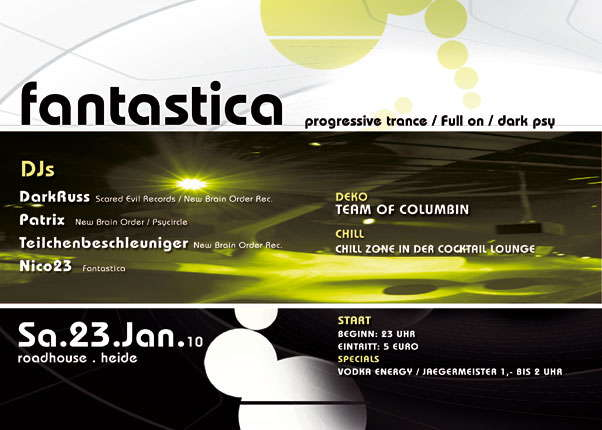 FANTASTICA meets BRAINBUSTERS 23 Jan '10, 23:00