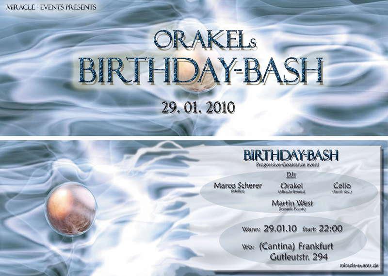 Orakels-Birthday-Bash 29 Jan '10, 22:00