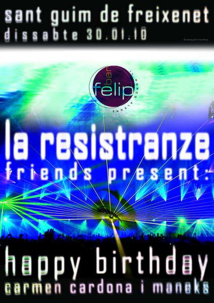 la resistranze& friends + afterparty 30 Jan '10, 23:30