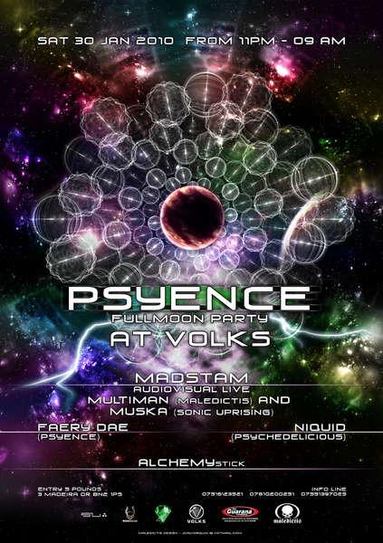 Psyence Full Moon Party 30 Jan '10, 23:00