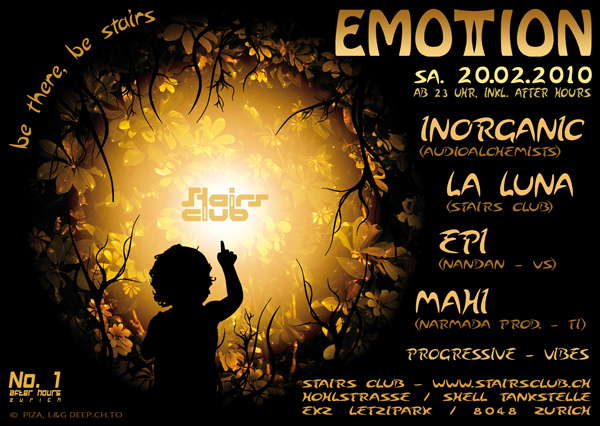 EmoTTion @ Stairs Club - bis 1 Uhr Gratis Eintritt 20 Feb '10, 23:00