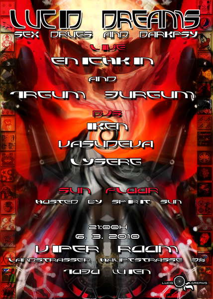 Party flyer: *LUCID DREAMS* SEX,DRUGS & DARKPSY - 1RGUM 3URGUM & ENICHKIN 6 Mar '10, 21:00