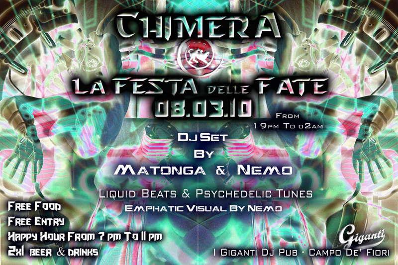 ::: CHIMERA - FESTE DELLE FATE 8 Mar '10, 19:00