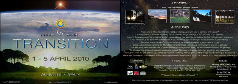 MAKE YOUR TRANSITION - 5th Anniversary Special Edition 31 Mar '10, 21:00