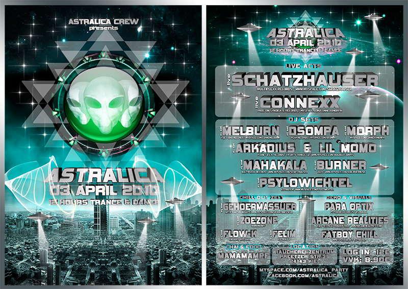 ★ ASTRALICA ★ IN & OUTDOOR / 2 Live Acts+11 Djs 3 Apr '10, 22:00