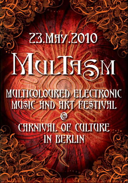 Party flyer: Multasm at 5 level with 4 floors - lineup online :-) 23 May '10, 13:00