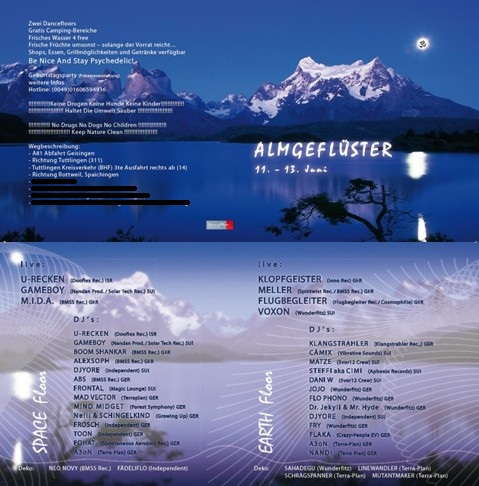 ALMGEFLÜSTER LIVE! U-RECKEN,KLOPFGEISTER;MELLER,GAMEBOY 11 Jun '10, 21:00