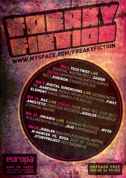Freaky Fiction @ Europa 23 Jun '10, 23:30